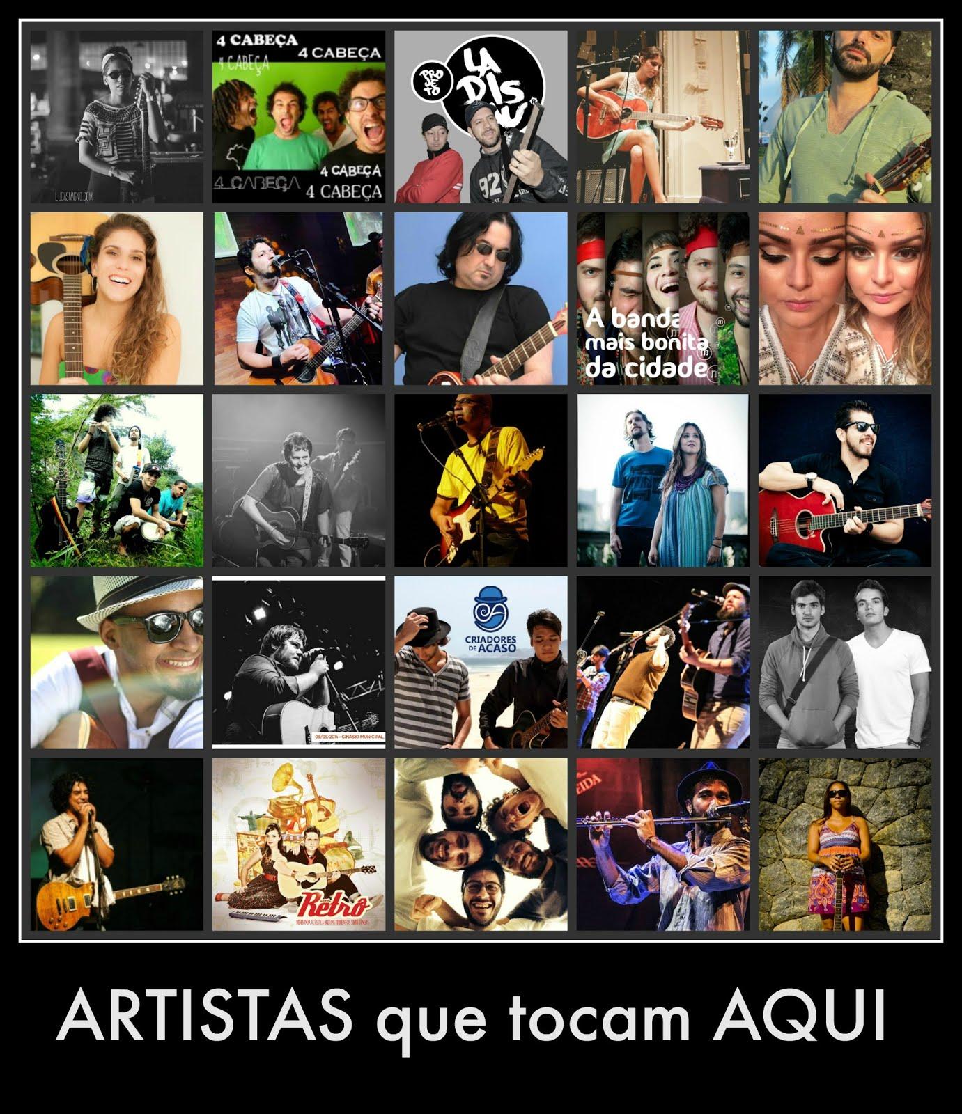 OS ARTISTAS  TOCADAS  NA  Rádio Web  Fm  e na Cultura  de  Cajazeiras Pb