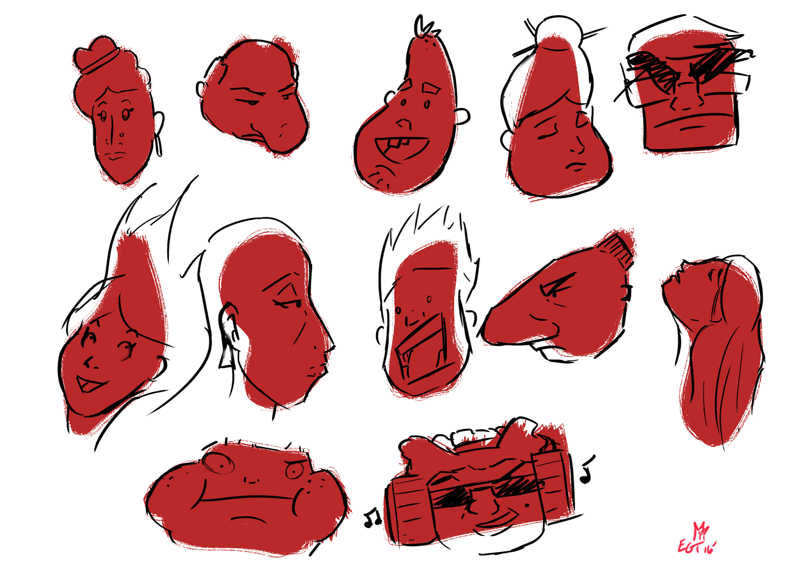 Character Design Body Shapes : Eythan taneyhill e character design shape language