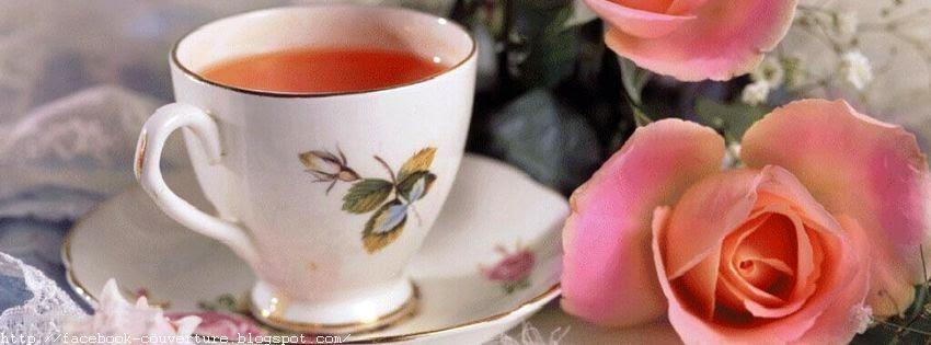 Une belle couverture facebook une tasse de thé