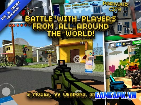 Pixel Gun 3D PRO Minecraft Ed. v7.1.1 hack free shopping cho Android