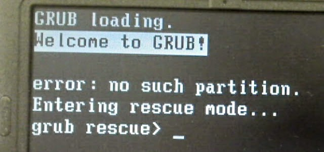 grub rescue mode error