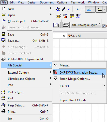 how to save archicad file to open in artlantis