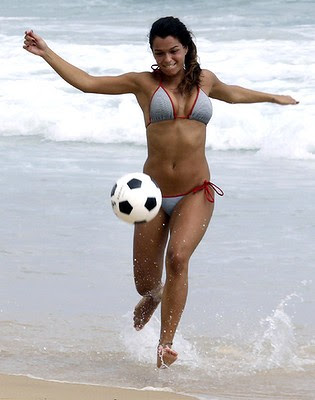 women beach football