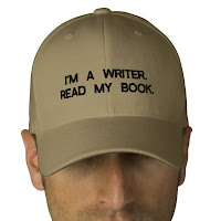 I'm a writer, read my book, cap