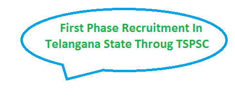 First Recruitment in Telangana in Depts through TSPSC Telangana State Public Service Commission