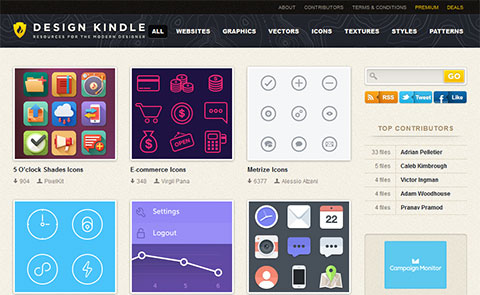 Design Kindle free PSD files for Web designers
