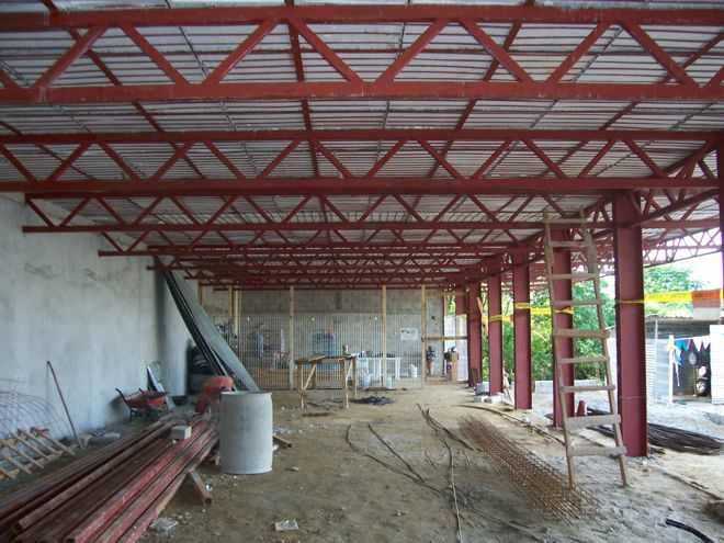 Construcción con columnas metálicas IPR