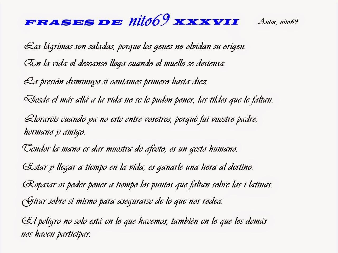 FRASES DE nito69 XXXVII