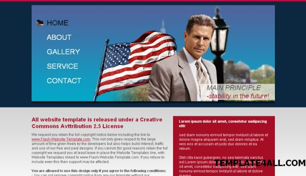 Smith USA Politics News Website Template