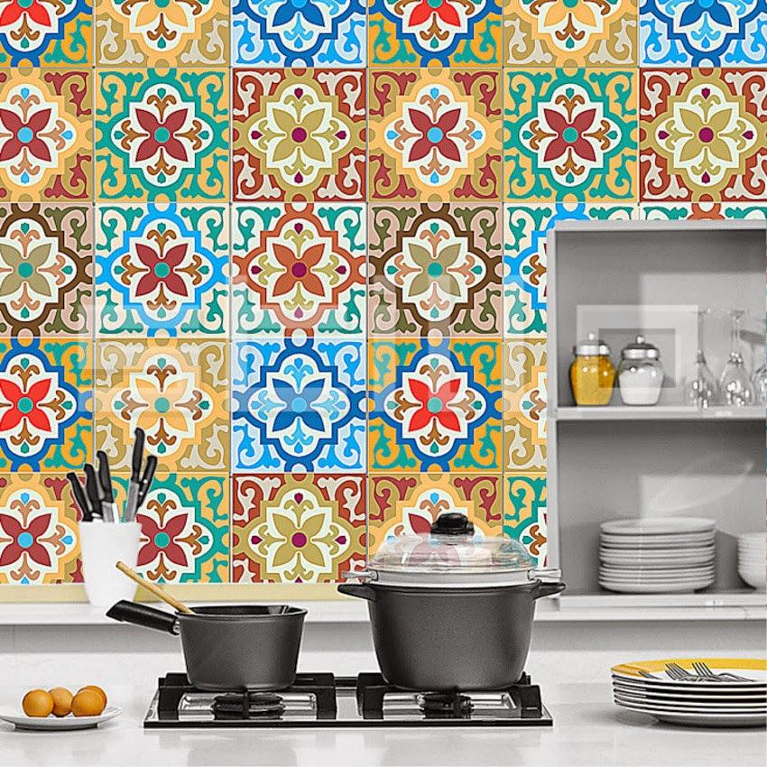 Vrolijke keukentegels met patroon - Tegelvloer patroon ...