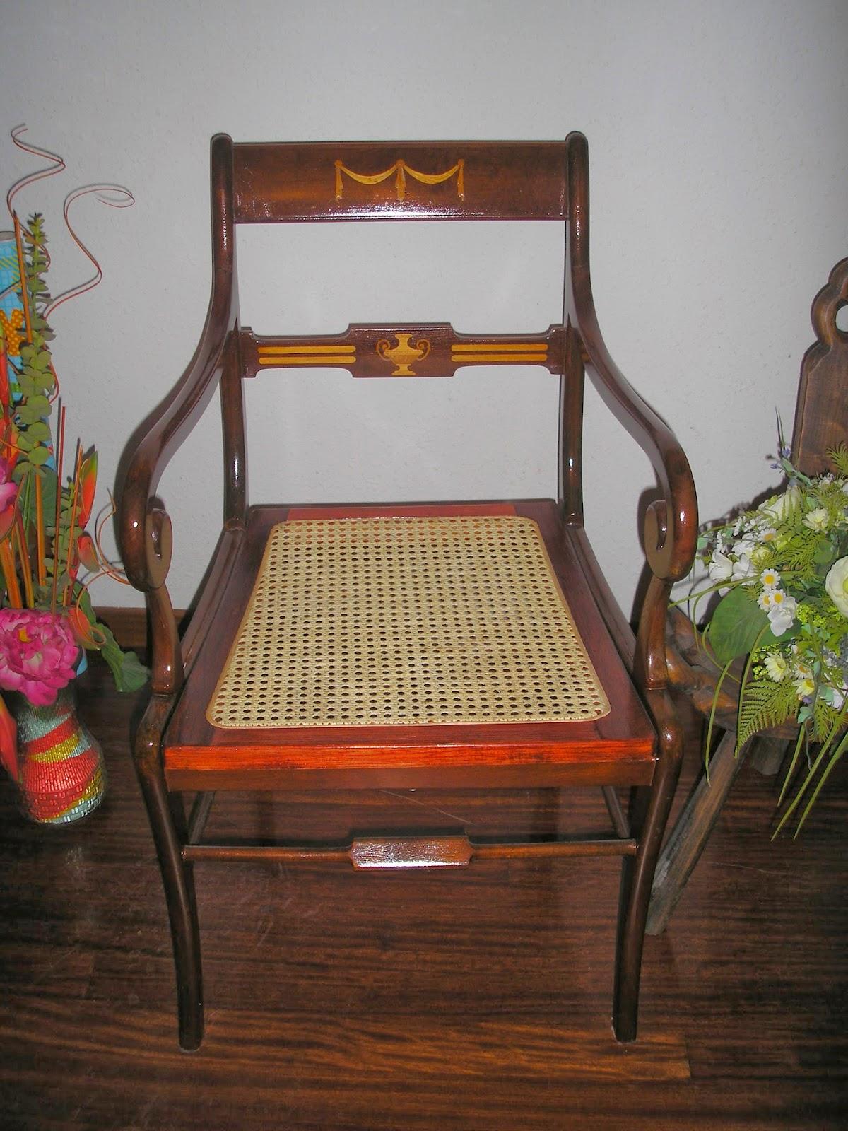 Restauraci n y rejilla silla de marqueter a - Restauracion de sillas ...