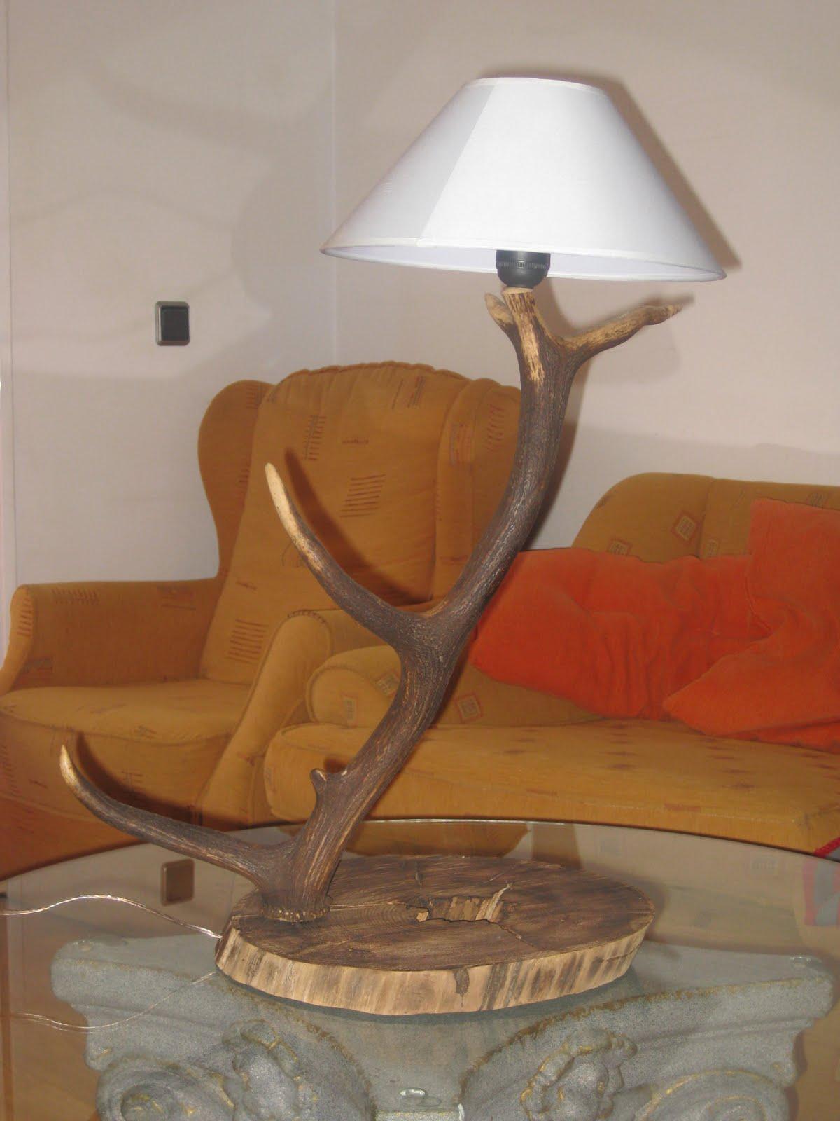 Decoraci n rural cort s lampara de mesa hecha a mano con - Sierra de mano para madera ...
