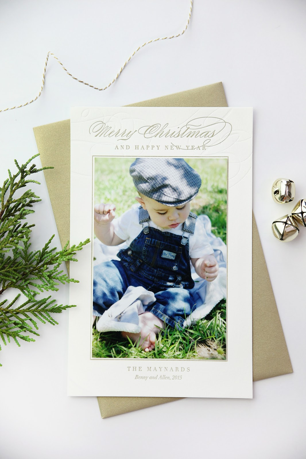 Cached Letterpress holiday cards with photo