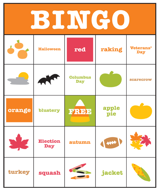 photograph regarding Fall Bingo Printable identified as hotcakes: Drop Bingo Video game