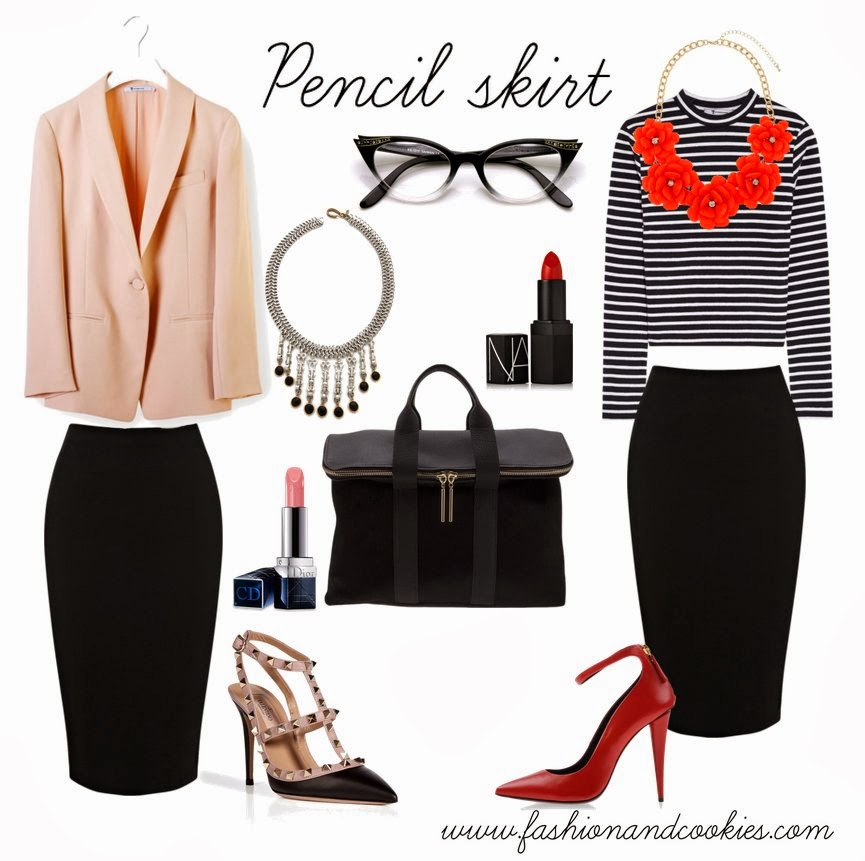How to style a pencil skirt, Fashion and Cookies, fashion blogger