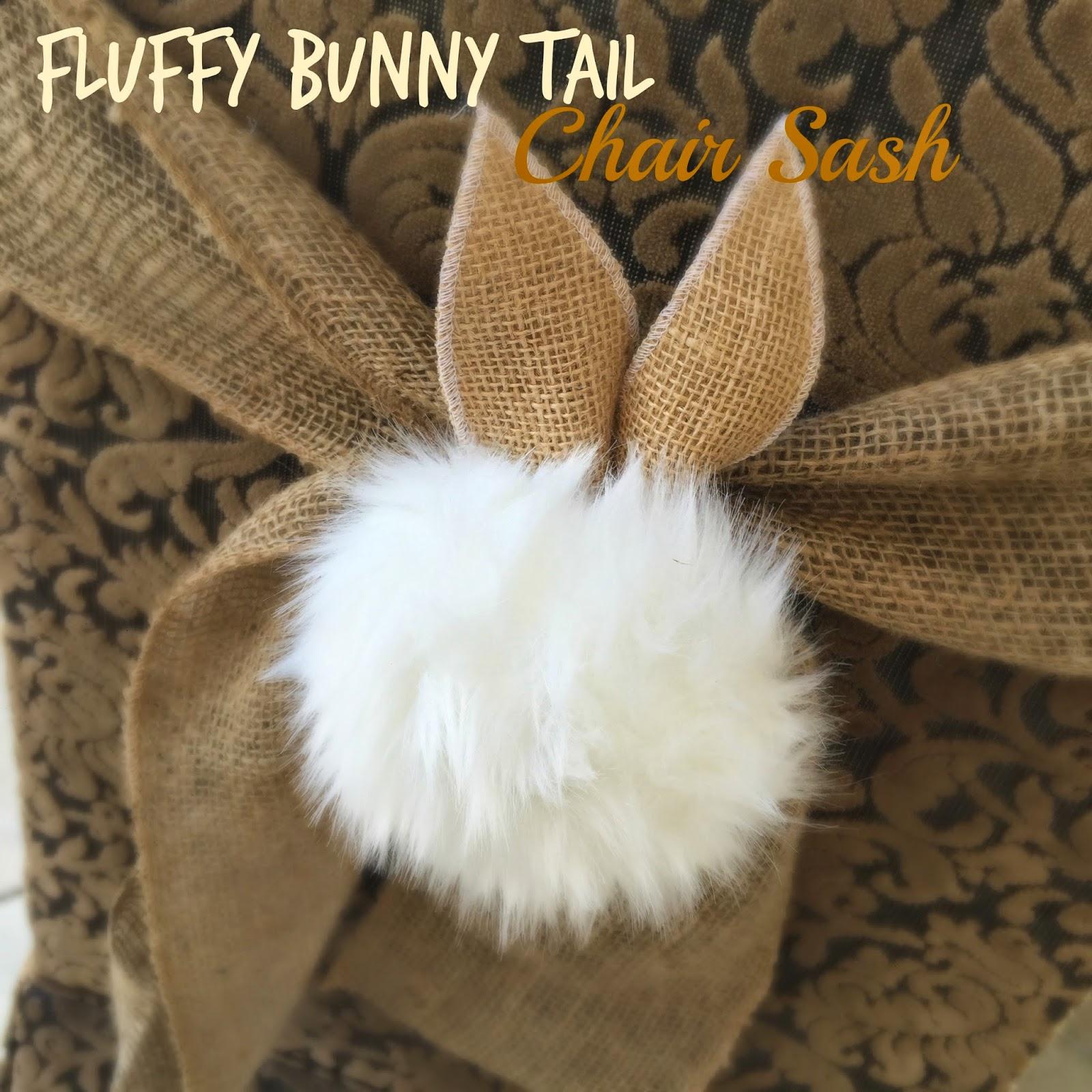 Fluffy Bunny Tail Chair Sash Tutorial Purple Chocolat Home