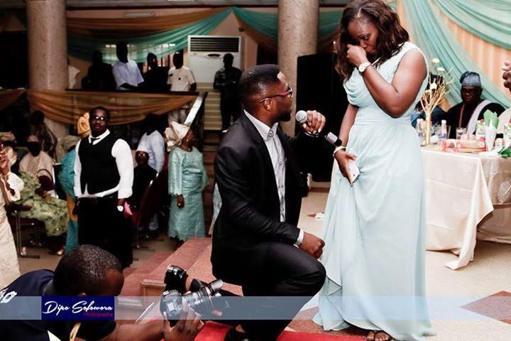 Proposal during wedding