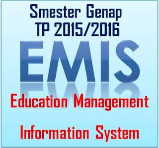 Format Pemutakhiran Data EMIS Smester Genap TP 2015/2016