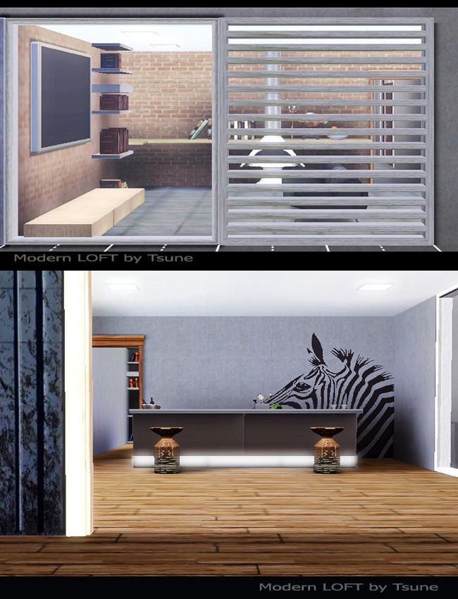 Koalafolio sims3 house living design modern loft house for Modern loft style house plans
