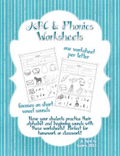 http://www.teacherspayteachers.com/Product/Phonics-Worksheets-for-Beginning-Sounds-974488