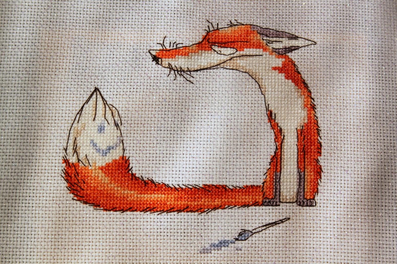 Лиса для вышивки гладью