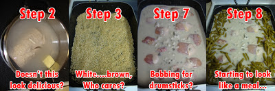 Steps Towards Making Chicken & Rice Casserole