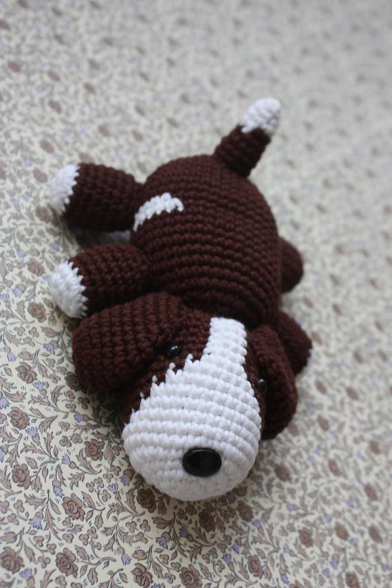 Crochet Patterns Dog : ... : Amigurumi Puppy PATTERN - Crochet Dog Pdf Tutorial - now available
