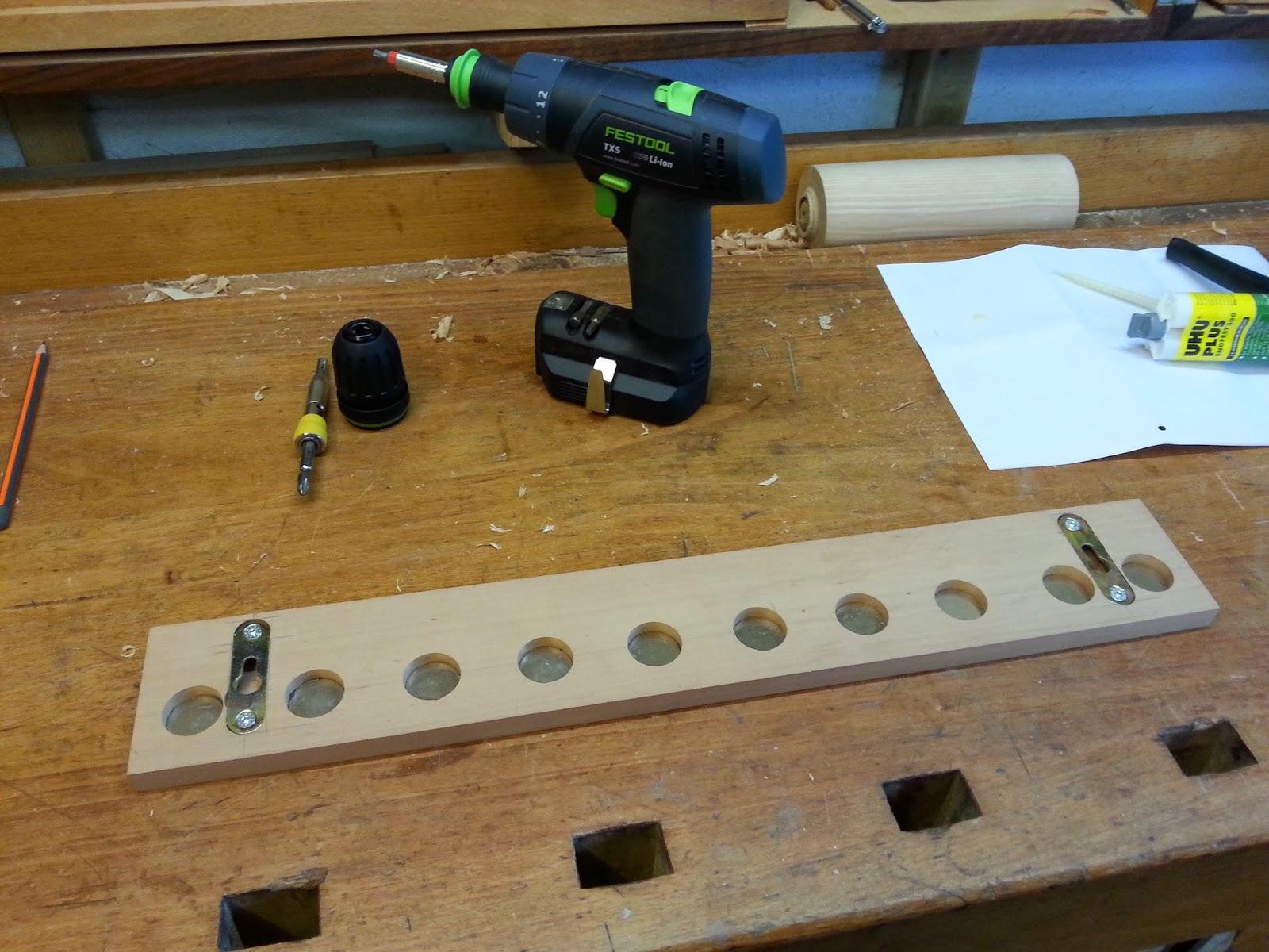 holzprojekte: magnetisches schlüsselbrett