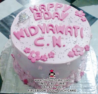 Kue Tart Simpel Princess Pink Daerah Surabaya Sidoarjo