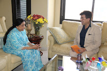 with Asha Bhosle at her residence