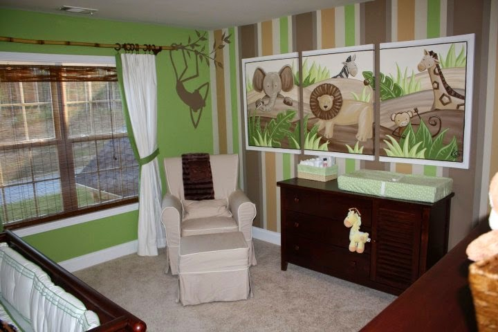 unique wall paint ideas for nursery