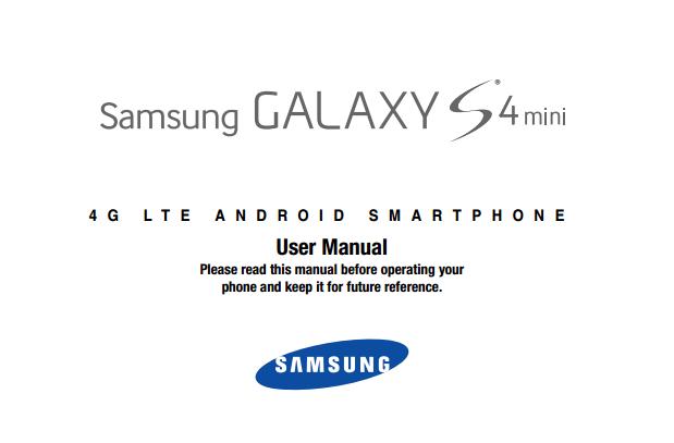 Samsung Galaxy S 4 mini manual cover