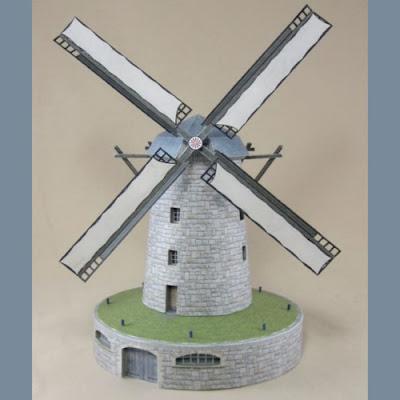 Поделка мельница из бумаги