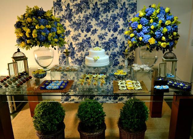 decoracao azul e amarelo para aniversario:Sposata!: Festas