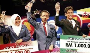 Winners of ASEAN QUIZ Malaysia 2012