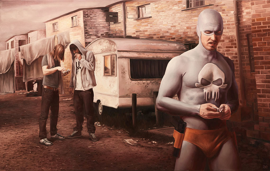 03-Andreas-Englund-Paintings-of-the-Unglamorous-Side-of-a-Superhero-www-designstack-co