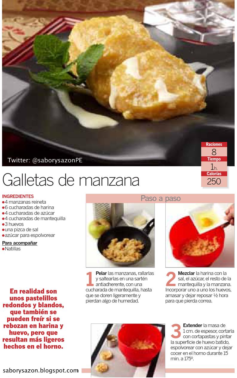 recipes - RECETAS SENCILLAS : GALLETAS DE MANZANA