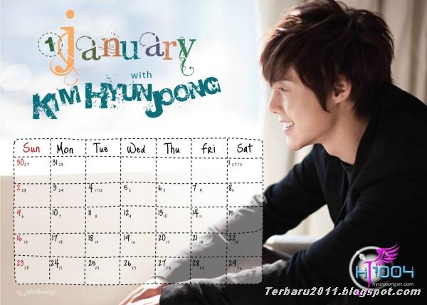 wallpaper calendar 2012 berikut foto kim hyun joong calendar 2012