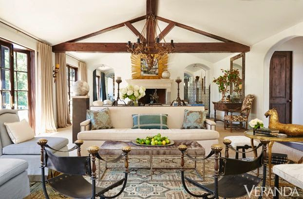 large traditional family room layout