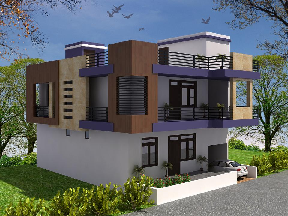 Front Elevation Of Independent House Joy Studio Design