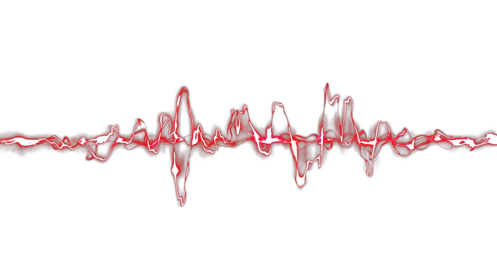 sound waves wallpaper white