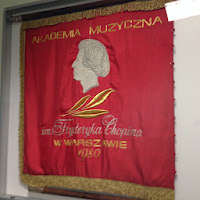 Chopin Academy Flag. Photo by Maja Trochimczyk