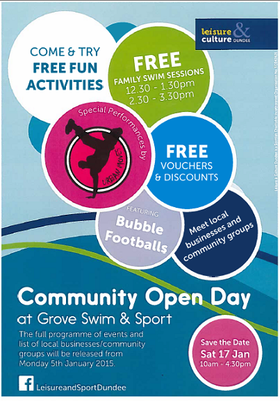 Grove Academy Swim and Sport Open Day 17 January 2015
