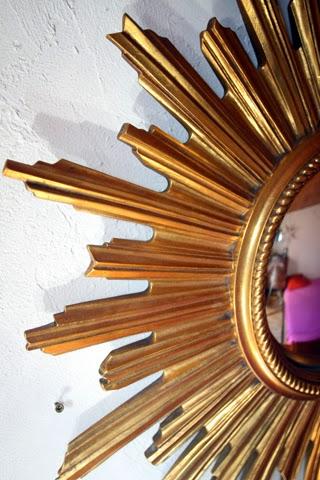 Chicbaazar objets vintage 50 60 70 magnifique miroir for Miroir 50 60