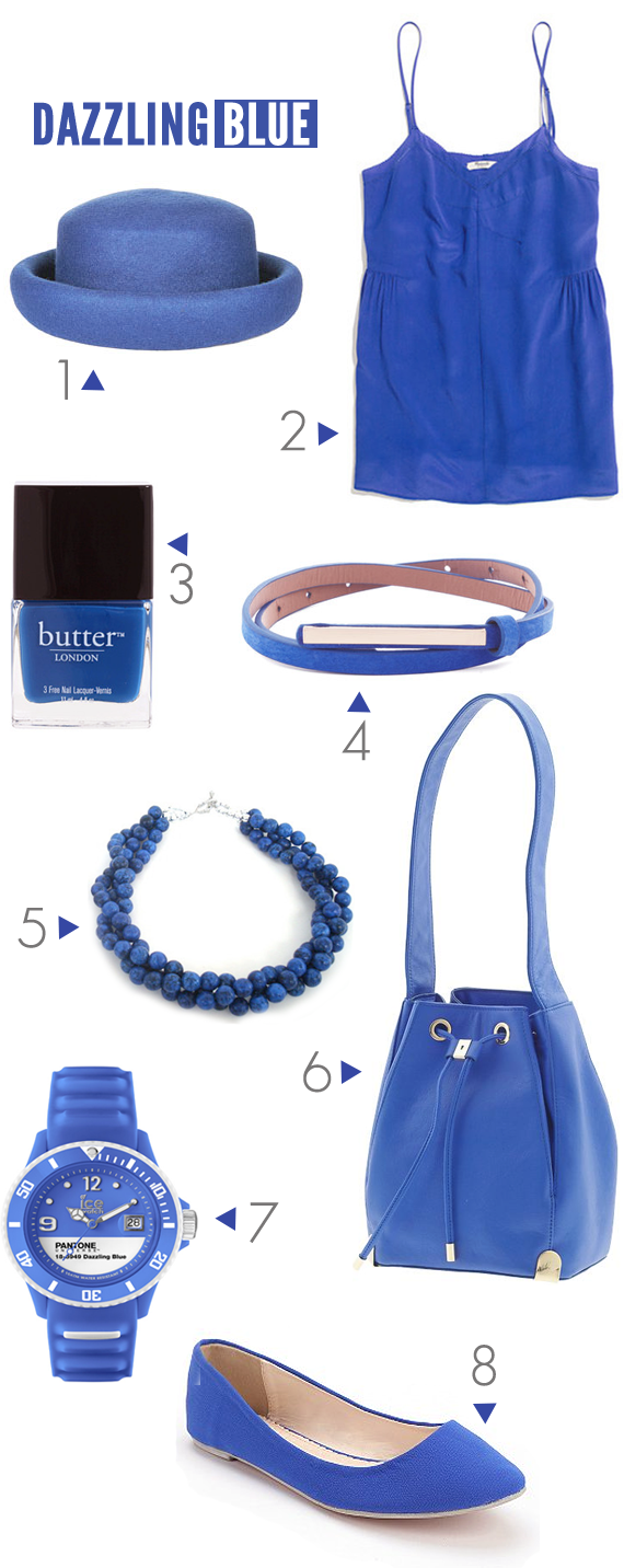 Pantone Dazzling Blue, The Color of Spring 2014 // Bubby and Bean