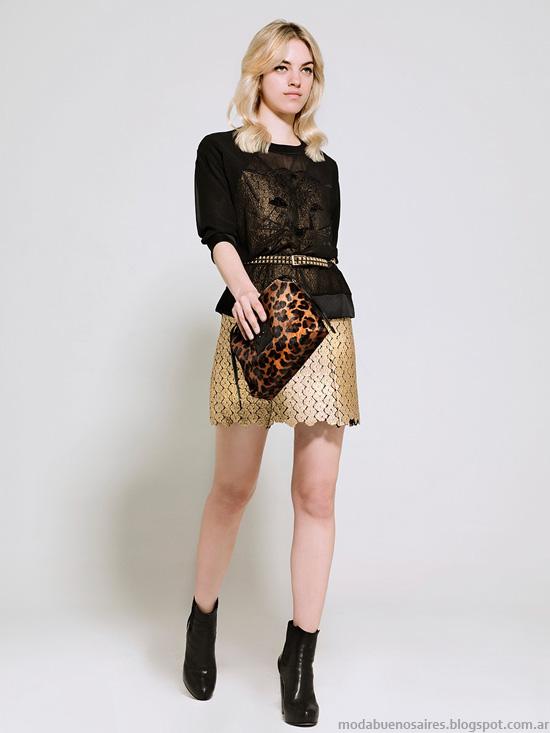 Moda invierno 2014 mini faldas. Kosiuko otoño invierno 2014.