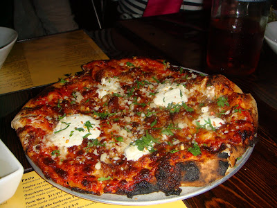 Salsiccia pizza at Coppa, Boston, Mass.