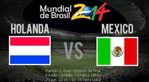 Partido Holanda vs México Octavos de Final