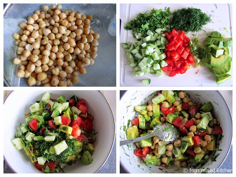 kikkererwten feta salade