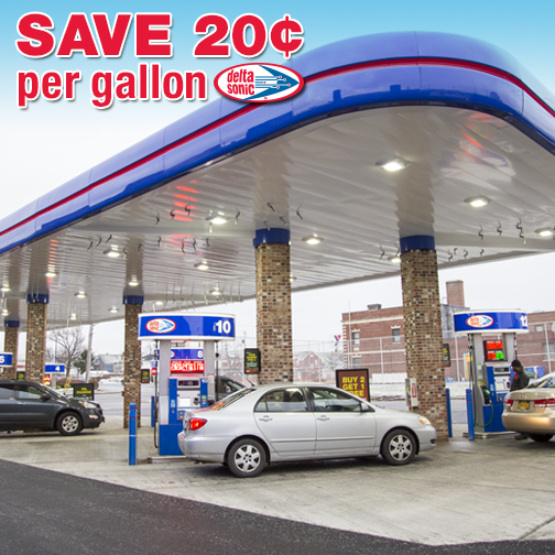to save $0.20 per gallon of gas at Delta Sonic through Monday, January ...